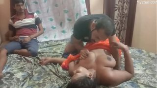 Desi Impotent Husband shared his wife for make her pregnant