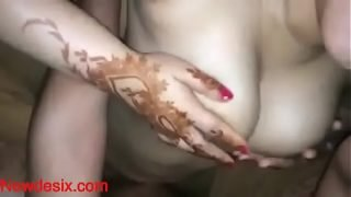 Desi Wife's hot bouncing boobs while her husband