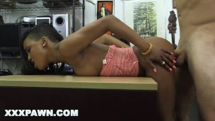 XXX PAWN – Spicy Black Golfer Gets Fucked In A Pawn Shop For Money